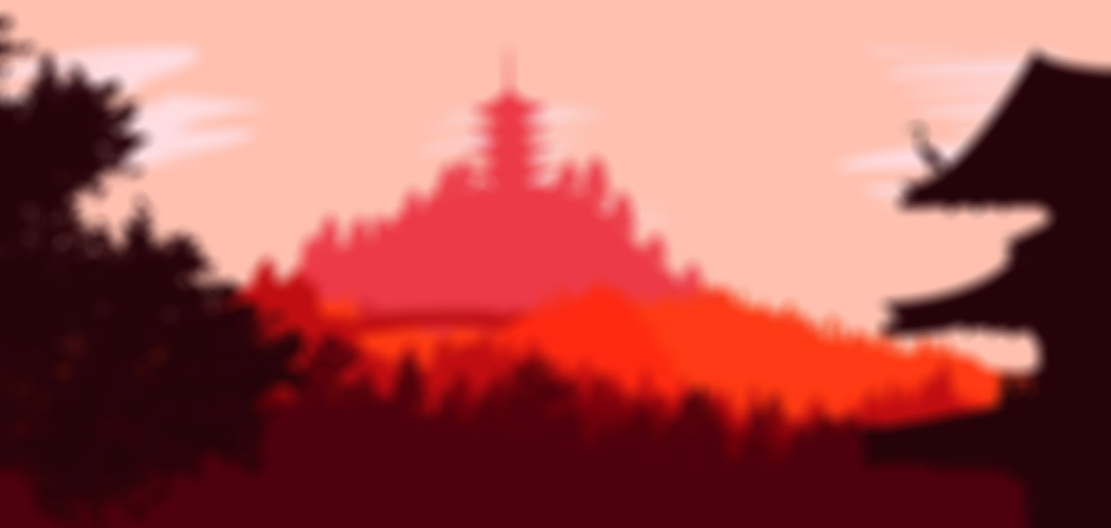 blurred oriental background
