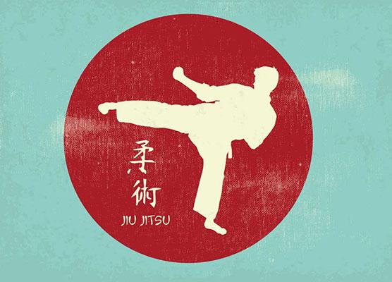 Jujitsu Vintage Symbol